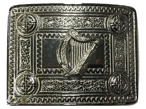 American Highlander Silver Harp Kilt Belt Buckle