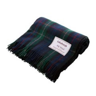 MacKenzie Clan Tartan Wool Blanket from Scotland