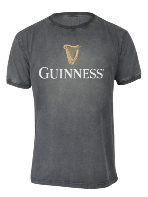 Guinness Distressed Classic Trademark Label T=Shirt