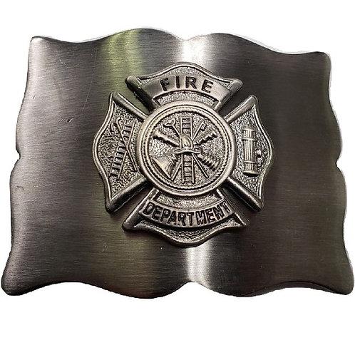 American Highlander Antique Silver Fire Fighter Kilt Belt Buckle