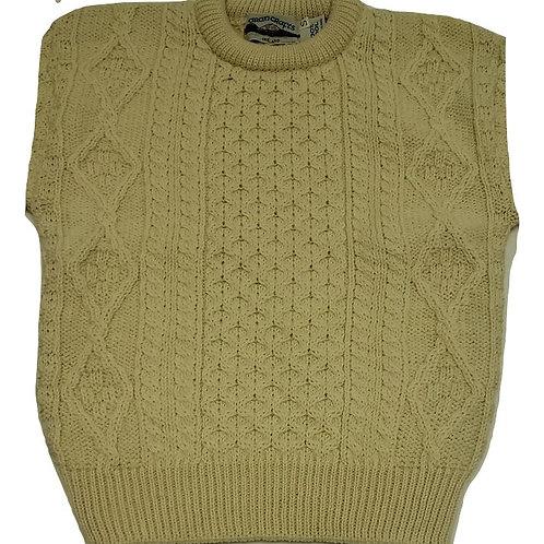 Aran Crafts Irish Wool Sweater (Natural)