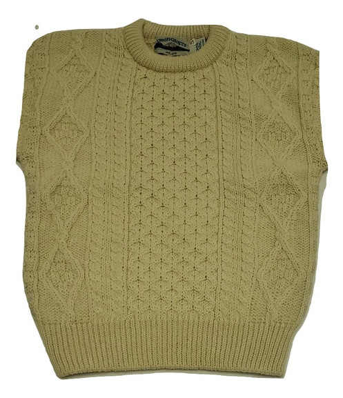 Aran Crafts Irish Wool Sweater Oatmeal