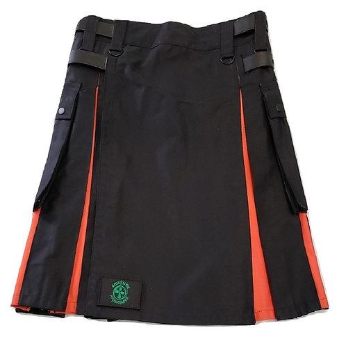 Black and Orange Men's Hybrid Utility Kilt