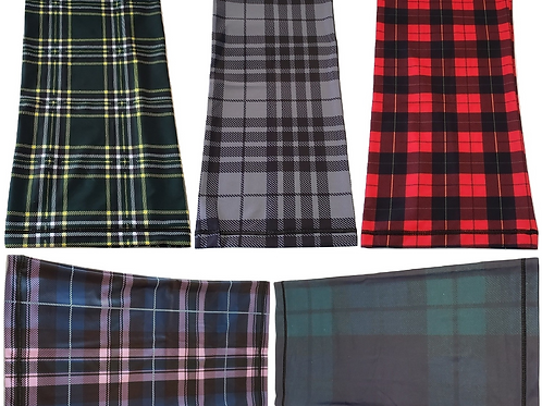 5-Pack Neck Gaiters - Breathable Tartan Neck & Face Mask