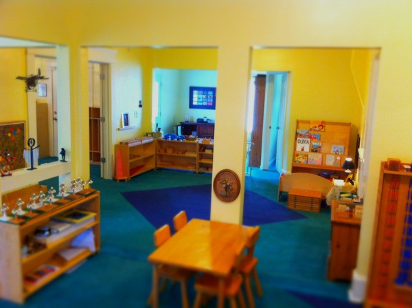 Tallulah Montessori Music, Math and Library Area