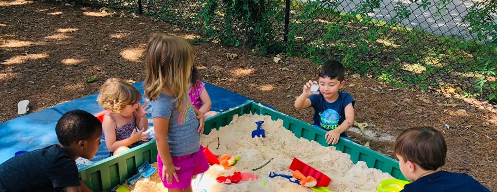 Sandbox play is a crowd favorite!