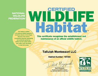 National Wildlife Federation Certified Wildlife Habitat