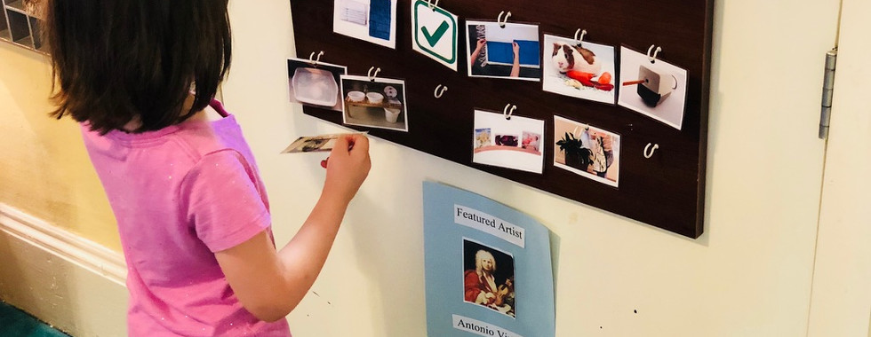 Children have daily jobs and here is where they keep track of what has or hasn't been completed