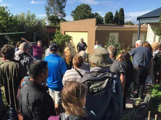 Our first garden tour
