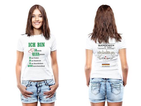 """T-Shirt für Frauen """"QUERDENKEN"""""""
