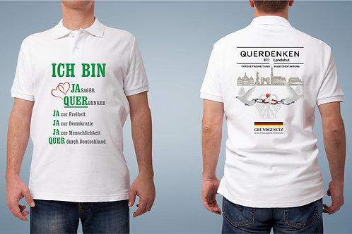 """Polo Shirt für Männer """"QUERDENKEN"""""""