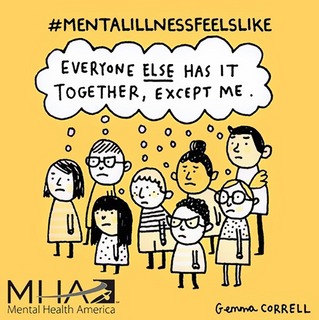 Illustrations Showing the Struggle of Living with Mental Illness