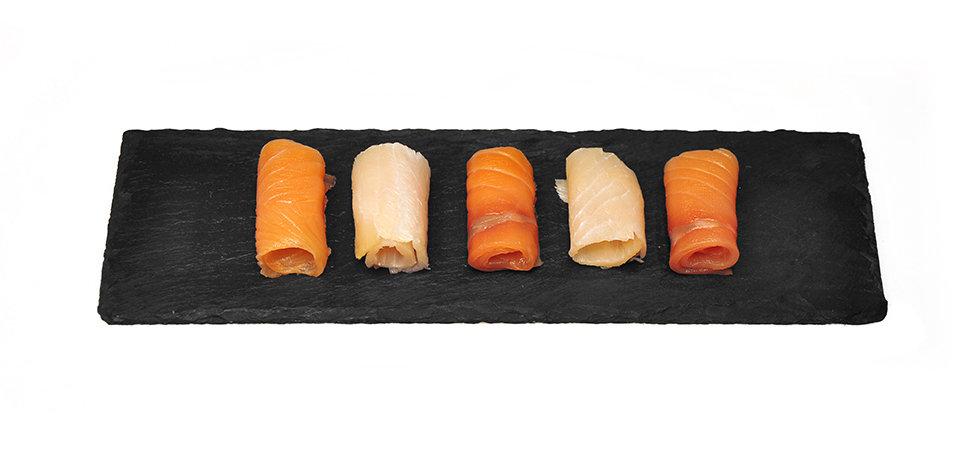 POISSONS FUMÉS_Assiette de poissons fum
