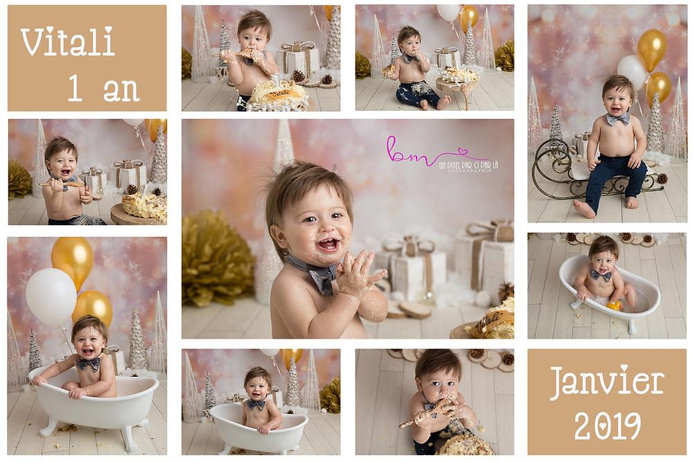 séance photo anniversaire bébé gateau décor bain 1 an gard 30 nimes