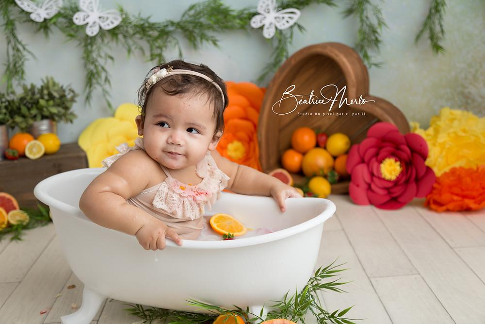 séance photo bébé pour 1 an anniversaire Gard