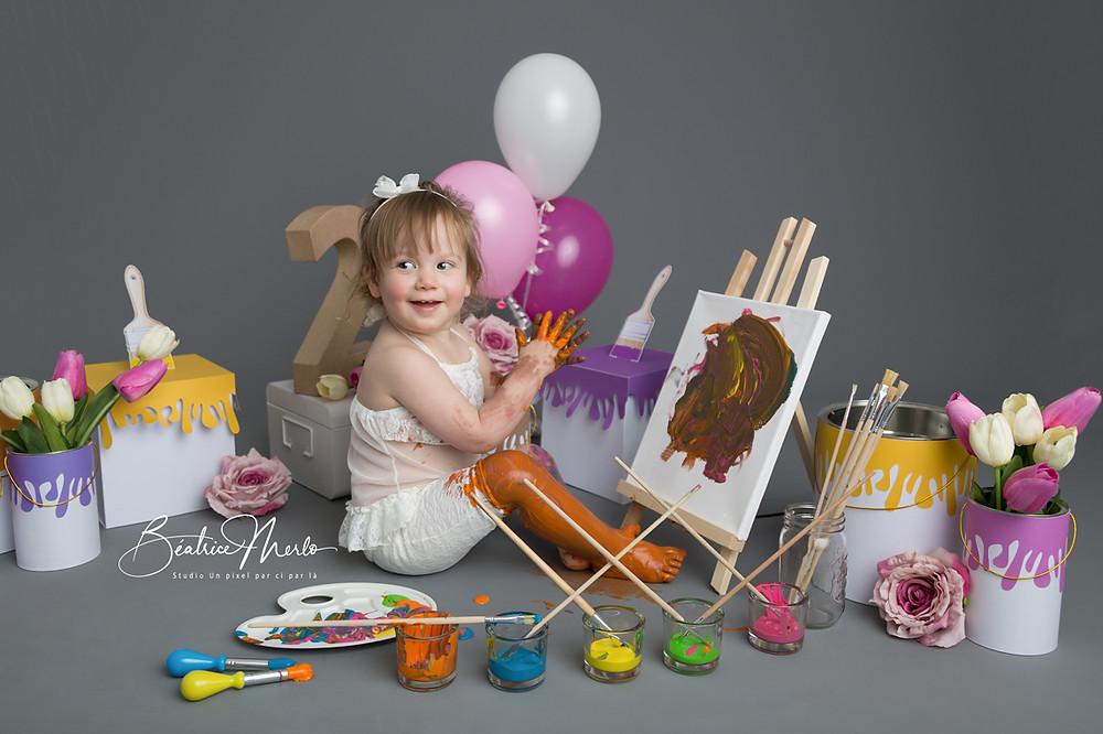 séance photo anniversaire bébé 2 an gard