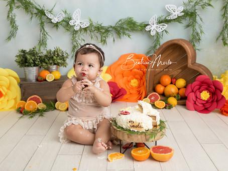 Séance photo Smash Cake Gard - bébé 1 an