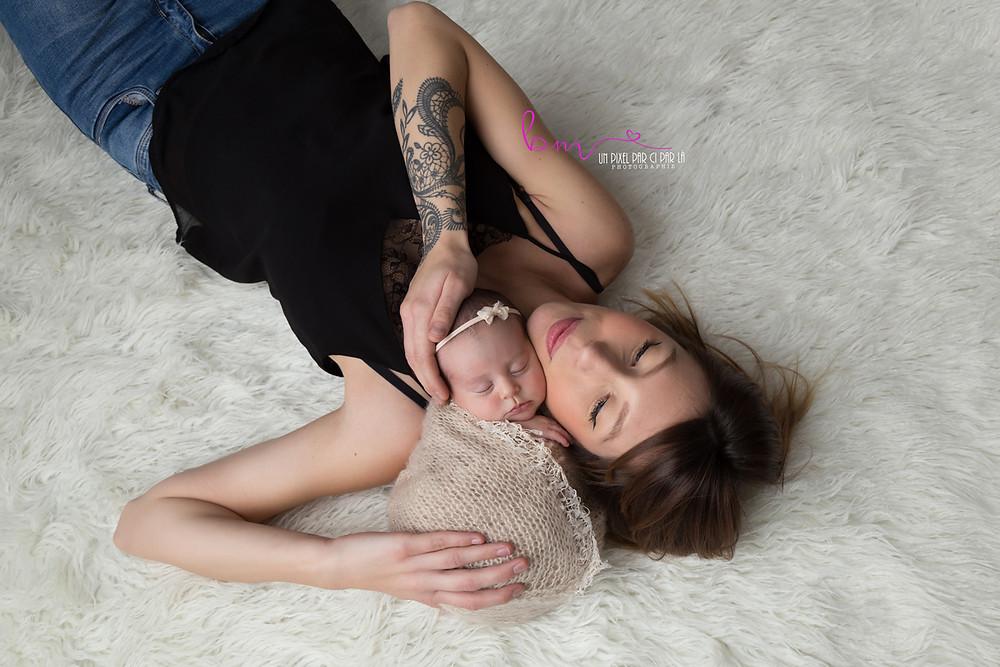séance photo naissance avec parents gard