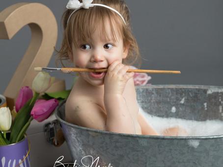 Séance photo bébé Petit Artiste anniversaire 2 ans -Redessan Gard 30