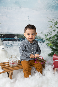 bebe garçon noel luge neige