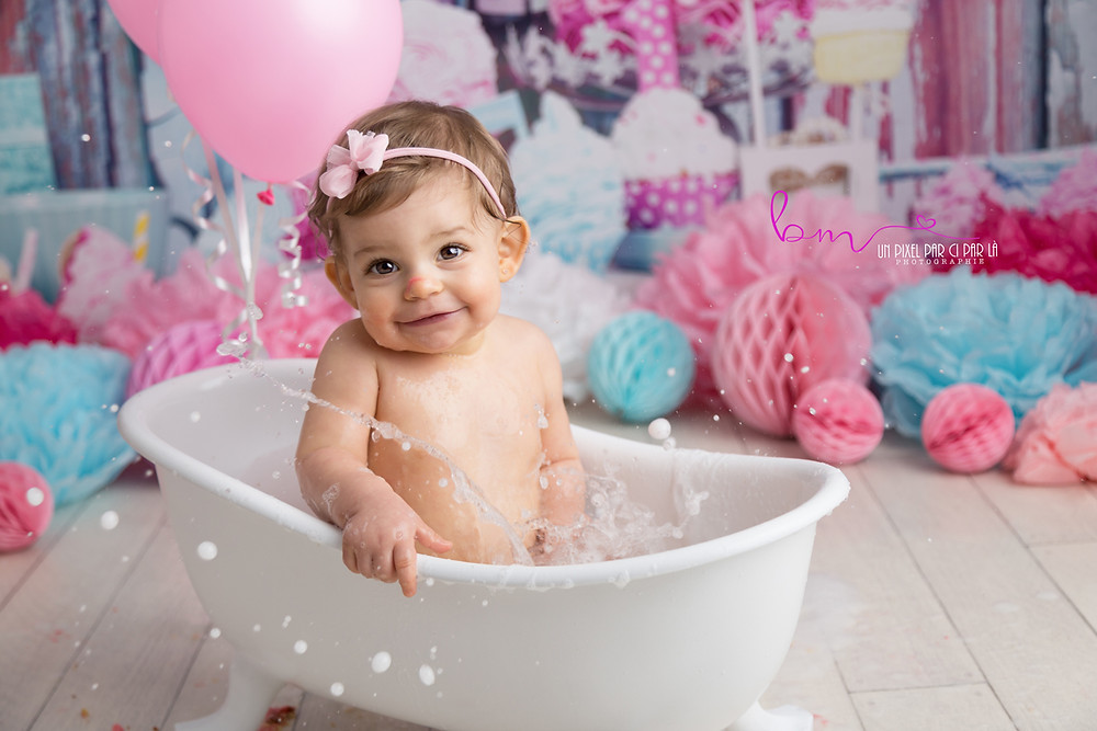 photo bébé 1 an bain redessan nimes beaucaire