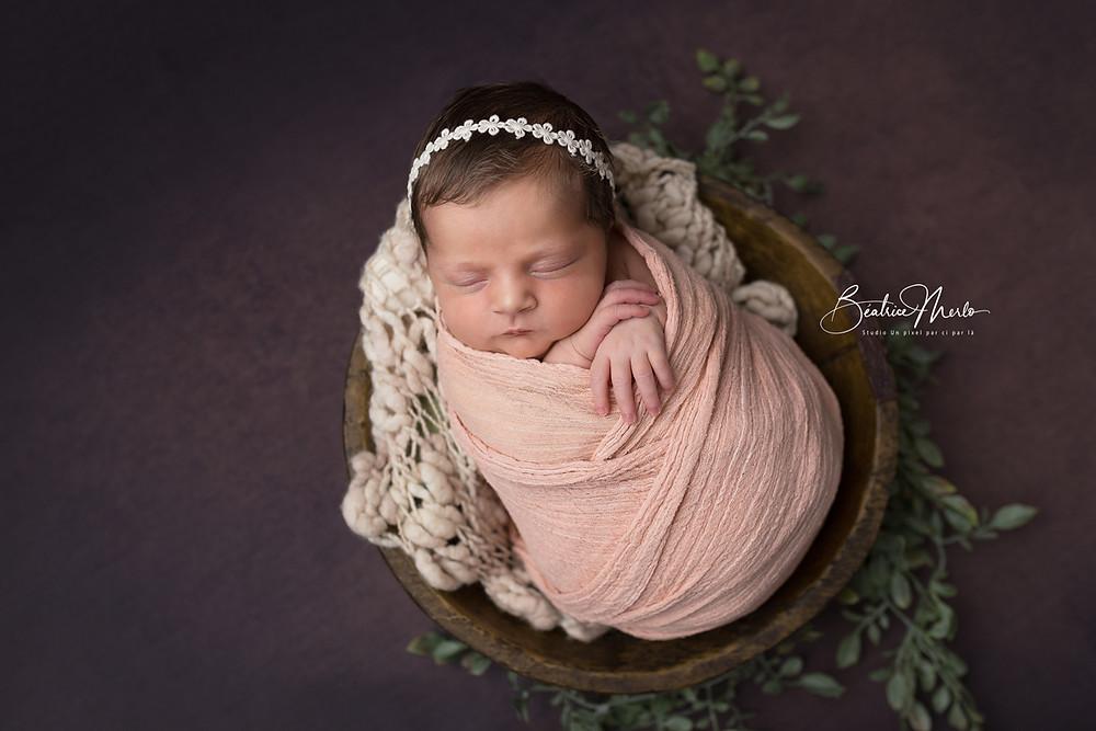 bol bois bébé endormi patatoes verdure