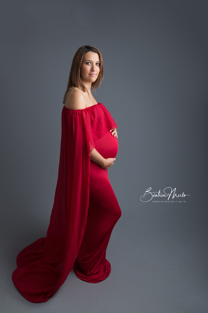 future maman maternité robe rouge sexy