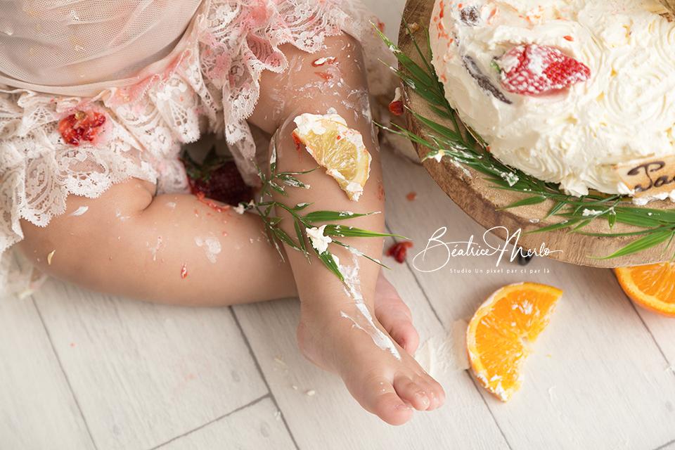 séance photo  bébé 1 an anniversaire gâteau gard