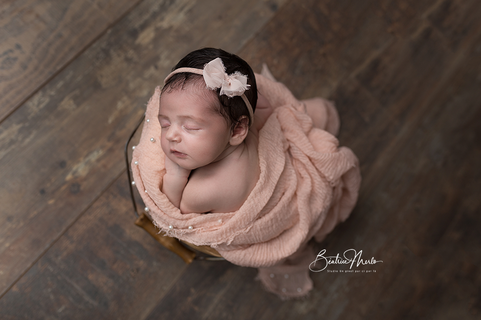 bébé naissance seau perles