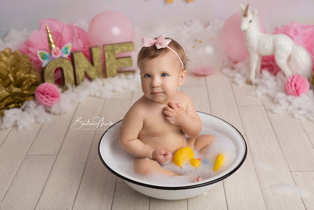 photographe bain de lait bebe gard