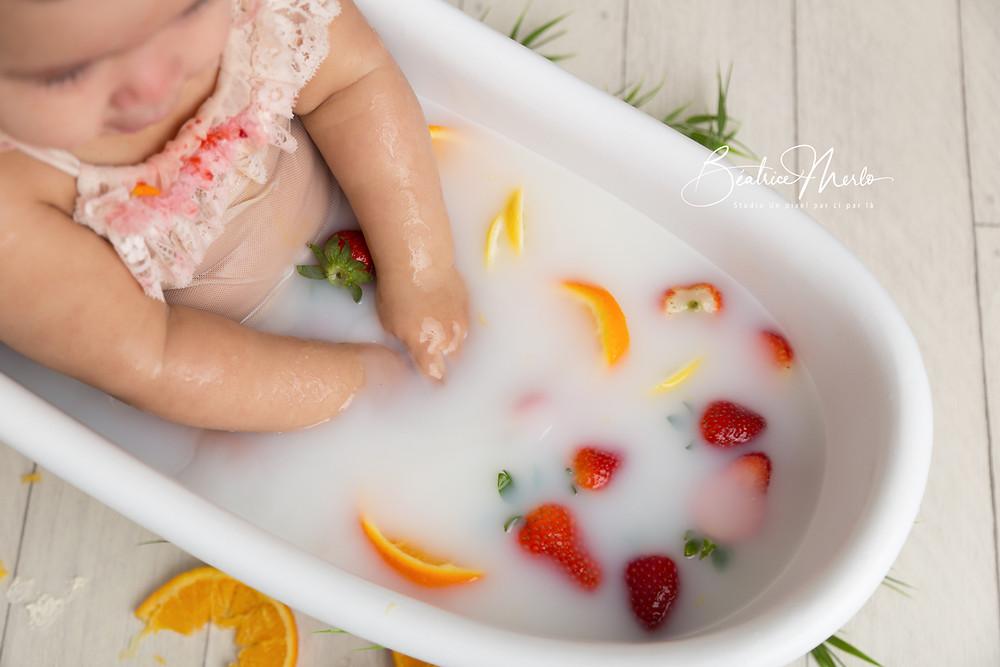 séance bain de lait bébé gard