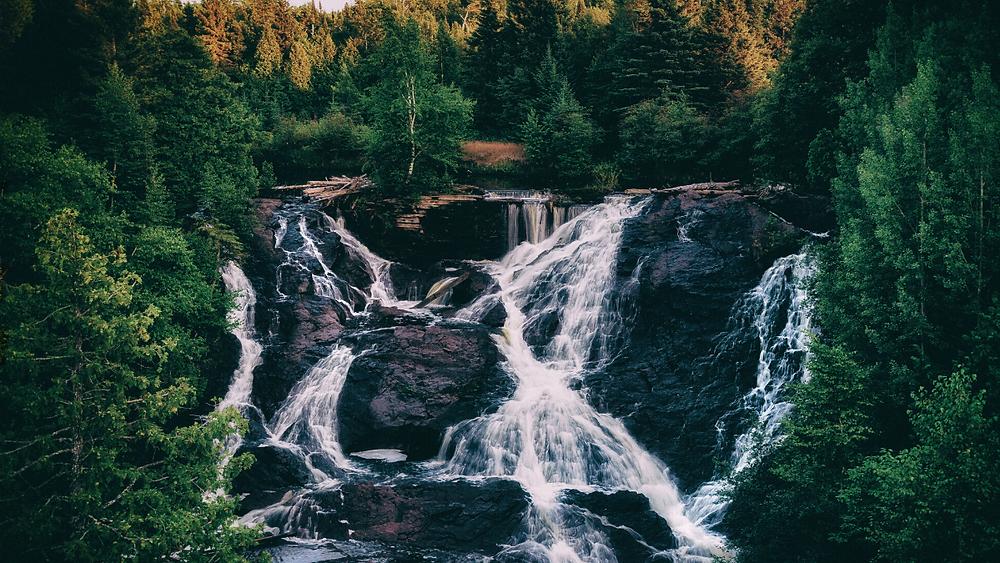 Waterfall in Michigan