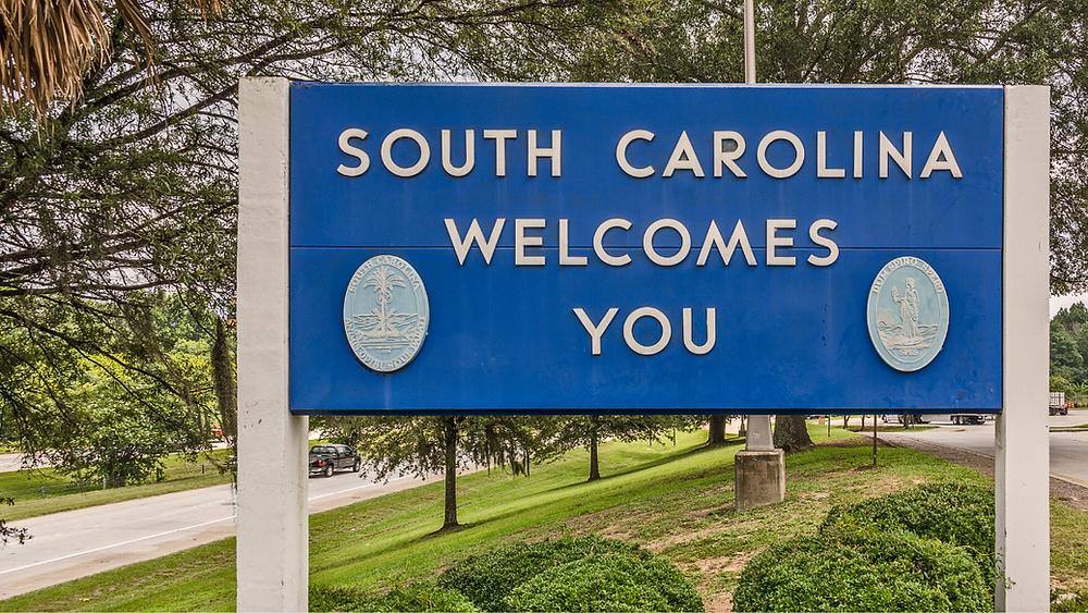 South Carolina Welcomes You Sign