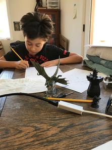 This kid hates writing
