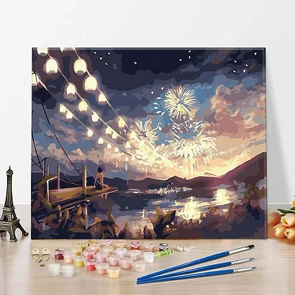 Fireworks by Sunset