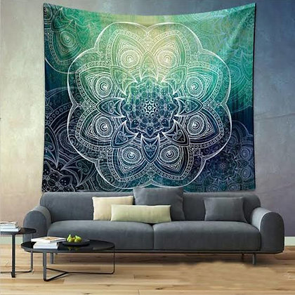 Jade Mandala Tapestry
