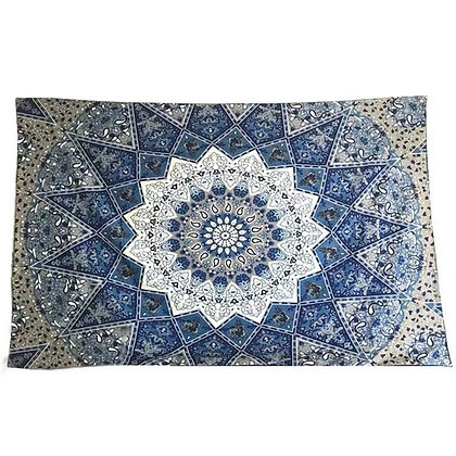 Sapphire Mandala Tapestry