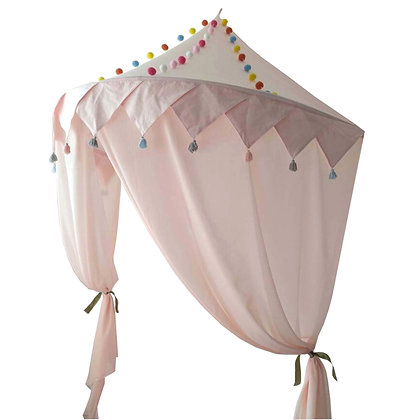 Cotton Wall Canopy in Blush