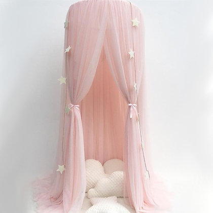 Chiffon Canopy in Blush