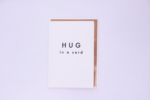 Hug In A Card  Greeting Card - Blank Inside