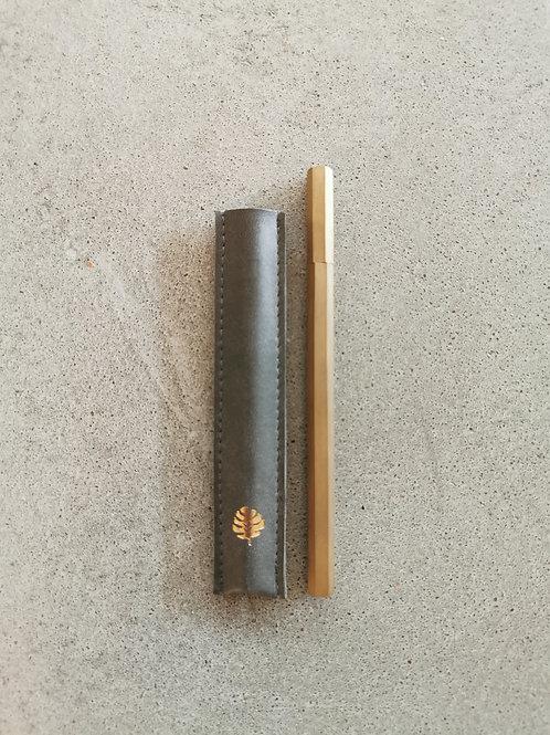 Gold Brass Hexagonal Ballpoint Pen