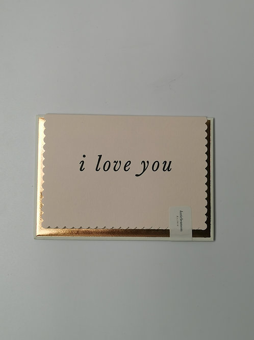 Luxe I Love You - Blank Inside
