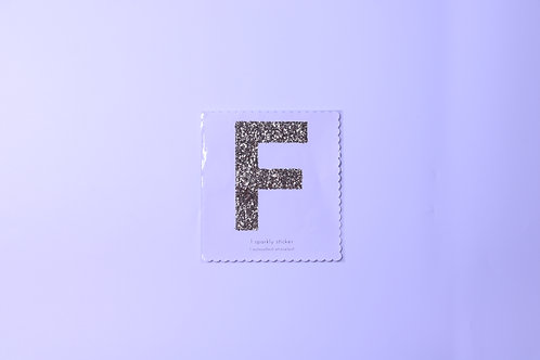Letter F Chunky Gold Sticker