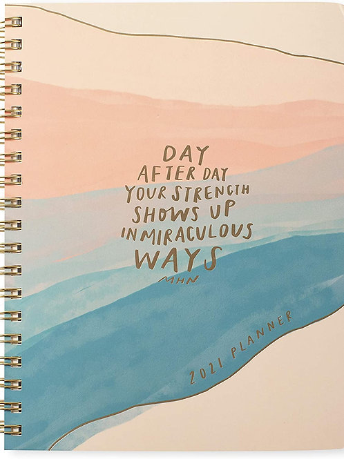 Day By Day Hard Cover 17 Months Planner With Stickers - Aug 2020-Dec 2021