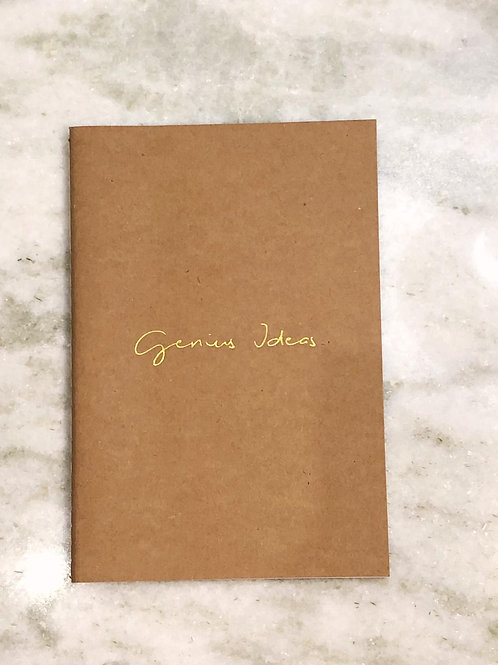 Genius Ideas A5 Slim Lined Notebook - 50 Pages