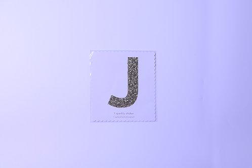 Letter J Chunky Gold Sticker