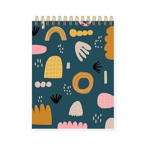 Shapes Spiral Sketchbook - A5 Plain Sheets, 80 Pages