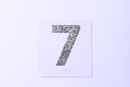 Number 7 Chunky Gold Sticker