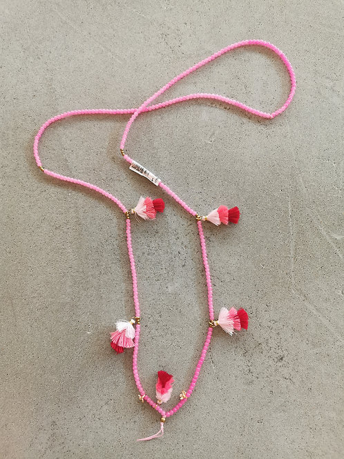 Pink Tassel Mobile Chain