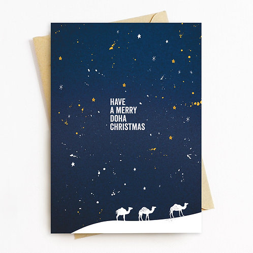 Christmas Camel Greeting Card - Blank Inside